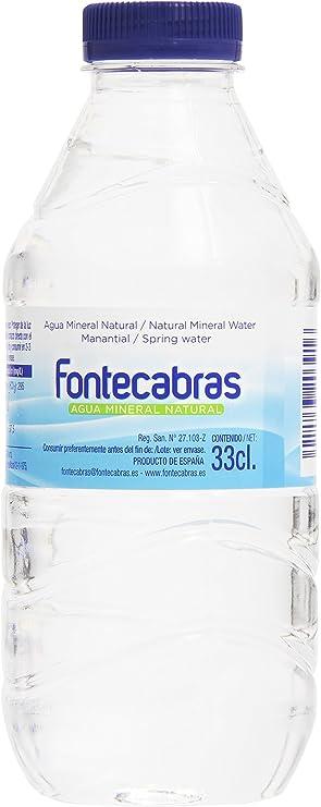 Fontecabras - Manantial - Agua mineral natural - 33 cl: Amazon.es: Alimentación y bebidas