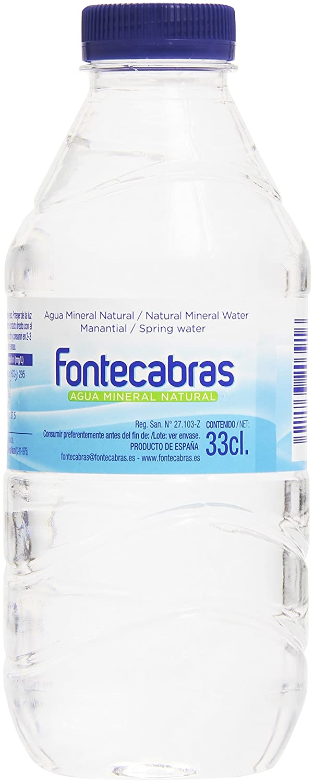 Fontecabras Manantial Agua Mineral Natural - 33 cl: Amazon.es ...