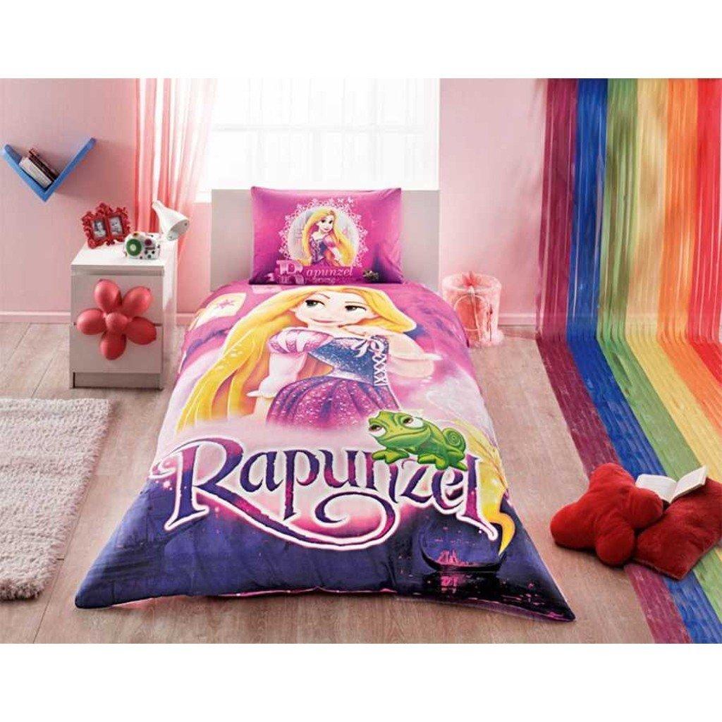 ラプンツェル% 100コットンGirl 's Kid 's羽毛布団/キルトカバーセットシングル/ツインサイズ子供用寝具 B077TWVXVZ