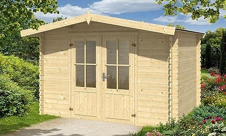 Abrigo de jardín Baltimore 6 m², (madriers 28 mm con tejado doble bordes)