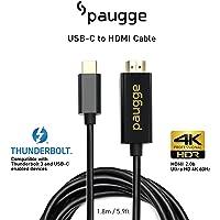 Paugge 4K 60Hz / HDR/HDCP 2.2 / DEX Mode Destekli USB C to HDMI 2.0b Kablo