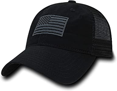 American Flag Embroidered Washed Soft Cotton Fitting Cap FREE SHIPPING