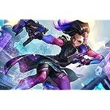 Amazon Com Xxw Artwork Overwatch Sombra Poster Character Assault