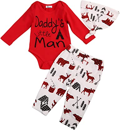 Red Elephants USA Flag Baby Boy Girl Long Sleeve Bodysuit Jumpsuit