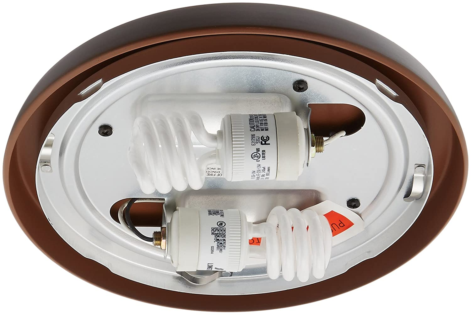 Casablanca 99255 CFL Low Profile Fitter, Brushed Cocoa Casablanca Fan Company