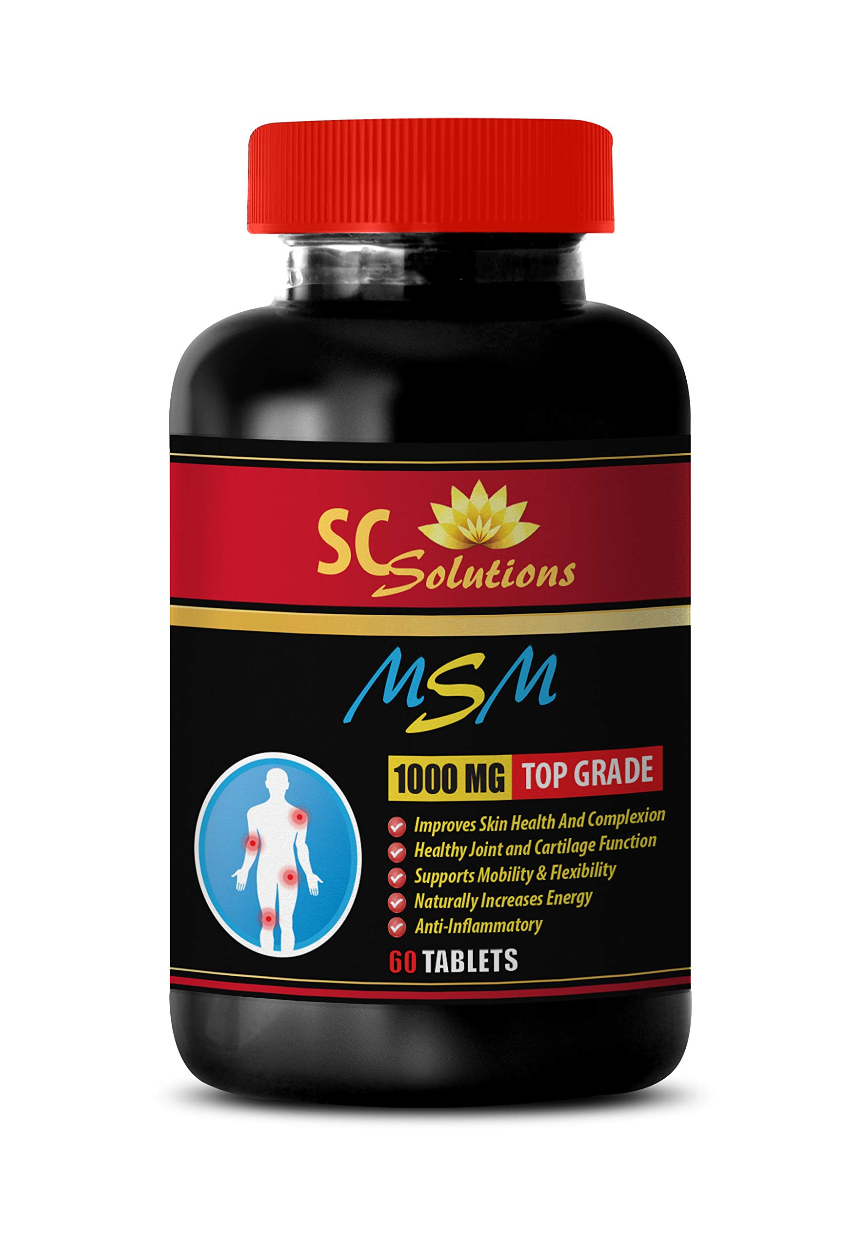 Joint Supplements with msm - MSM (Methylsulfonylmethane) - Msm Tablets 1000mg - 1 Bottle 60 Tablets by SKIN CARE SOLUTIONS