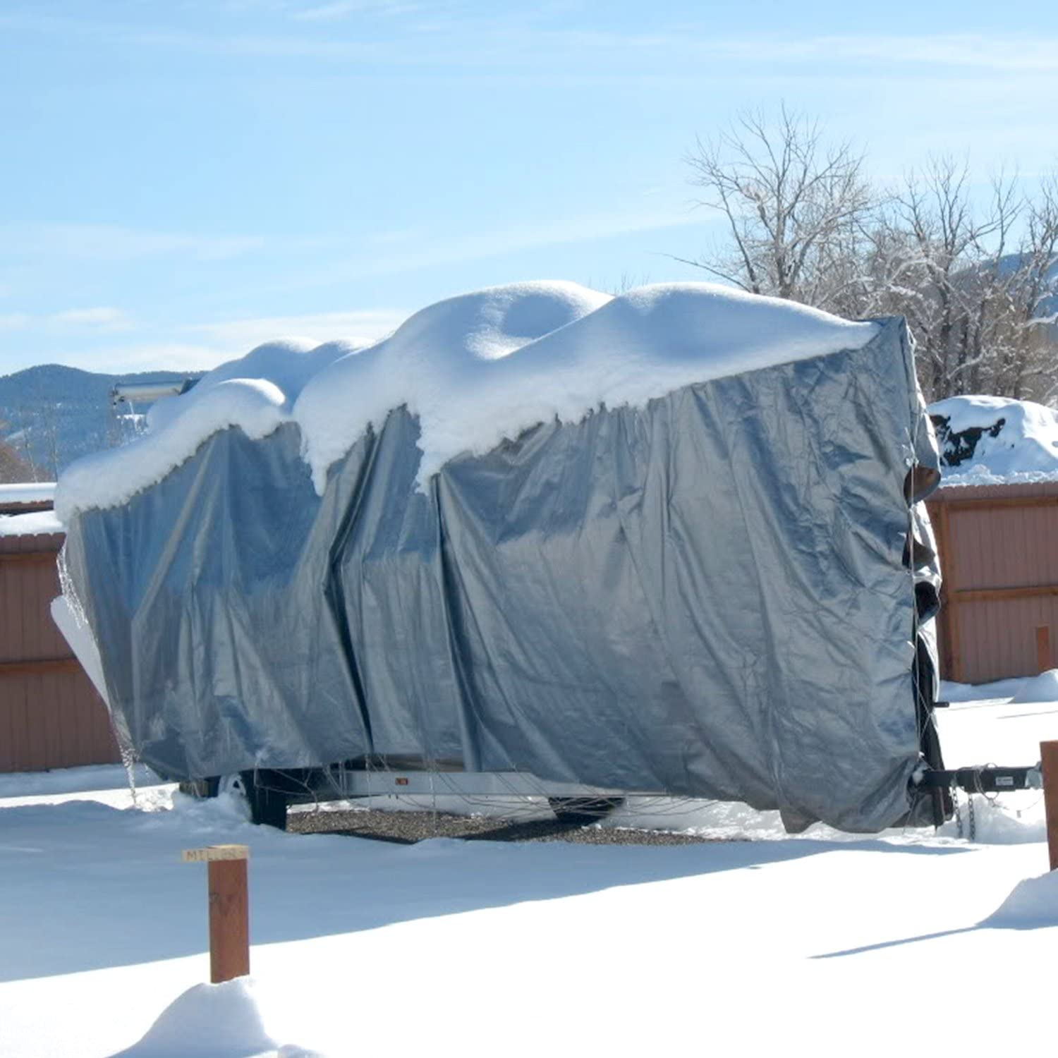 E/&K Sunrise 12 x 12 Finished Size General Multi-Purpose Tarpaulin 10-mil Poly Tarp White