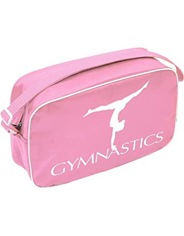 c43d63a75de Gymnastics Shoulder Bag Gymnast Print Logo Zip Top Shoulder Strap PINK