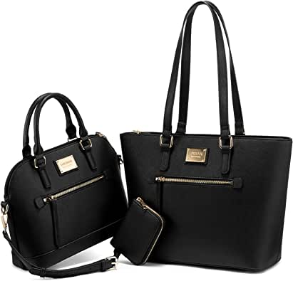 Purses for Women Fashion Handbags Tote Bag Shoulder Bags Top Handle Satchel Purse Set 3pcs