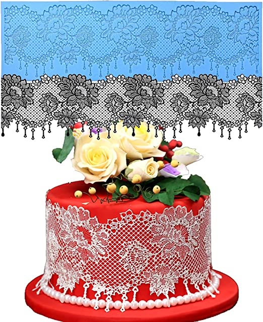 Silicone Cake Tools Lace Mats Mold Silicone Lace Mat Fondant Cake Decorating MA
