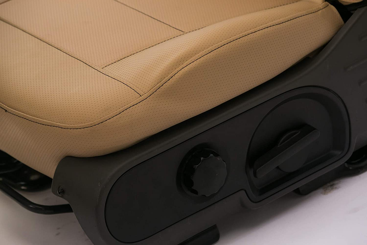 Saddleman S 779927-09 Tan Custom Made Rear 60//40 Backrest with 3 Molded Headrests Seat Covers