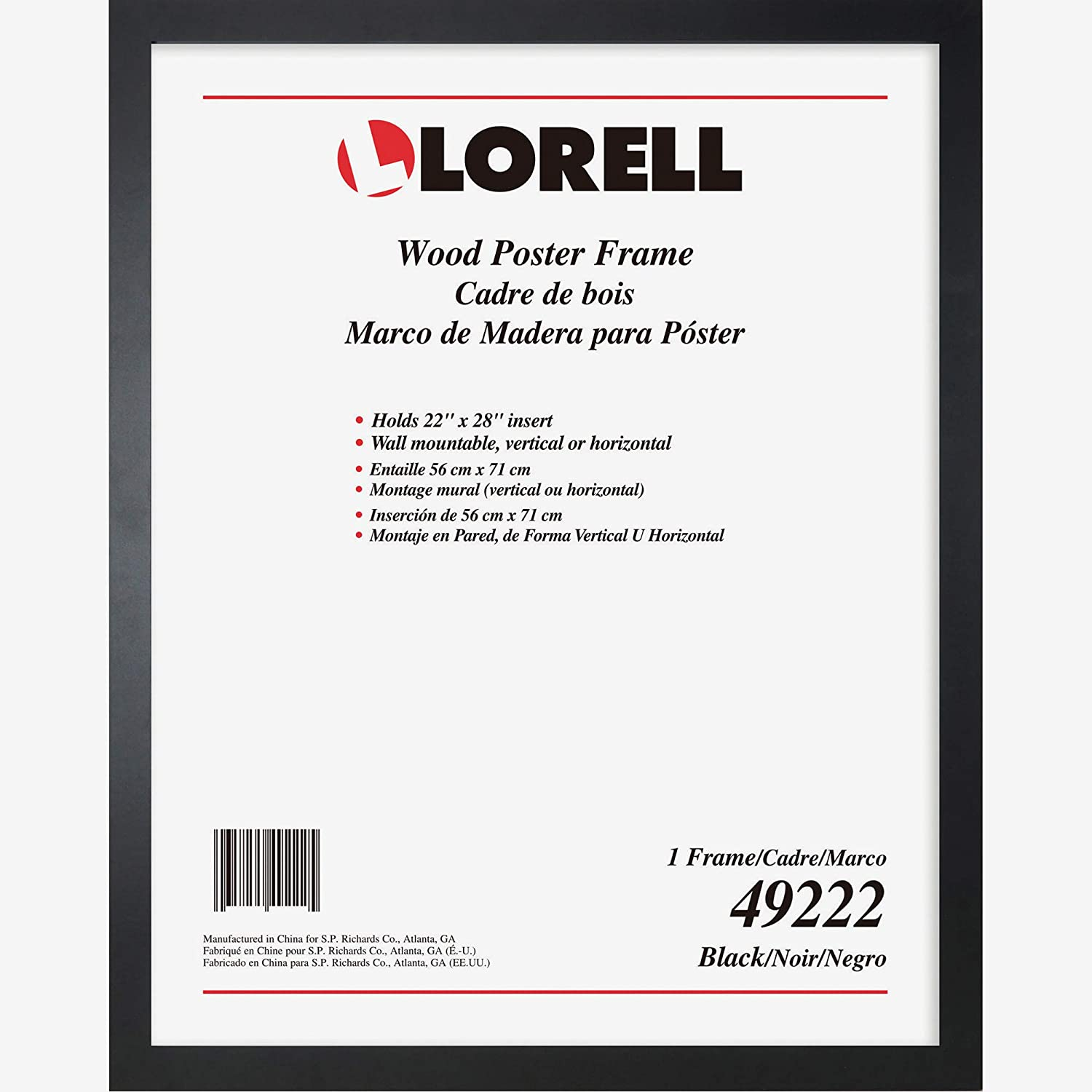Lorell Solid Wood Poster Frame, 22
