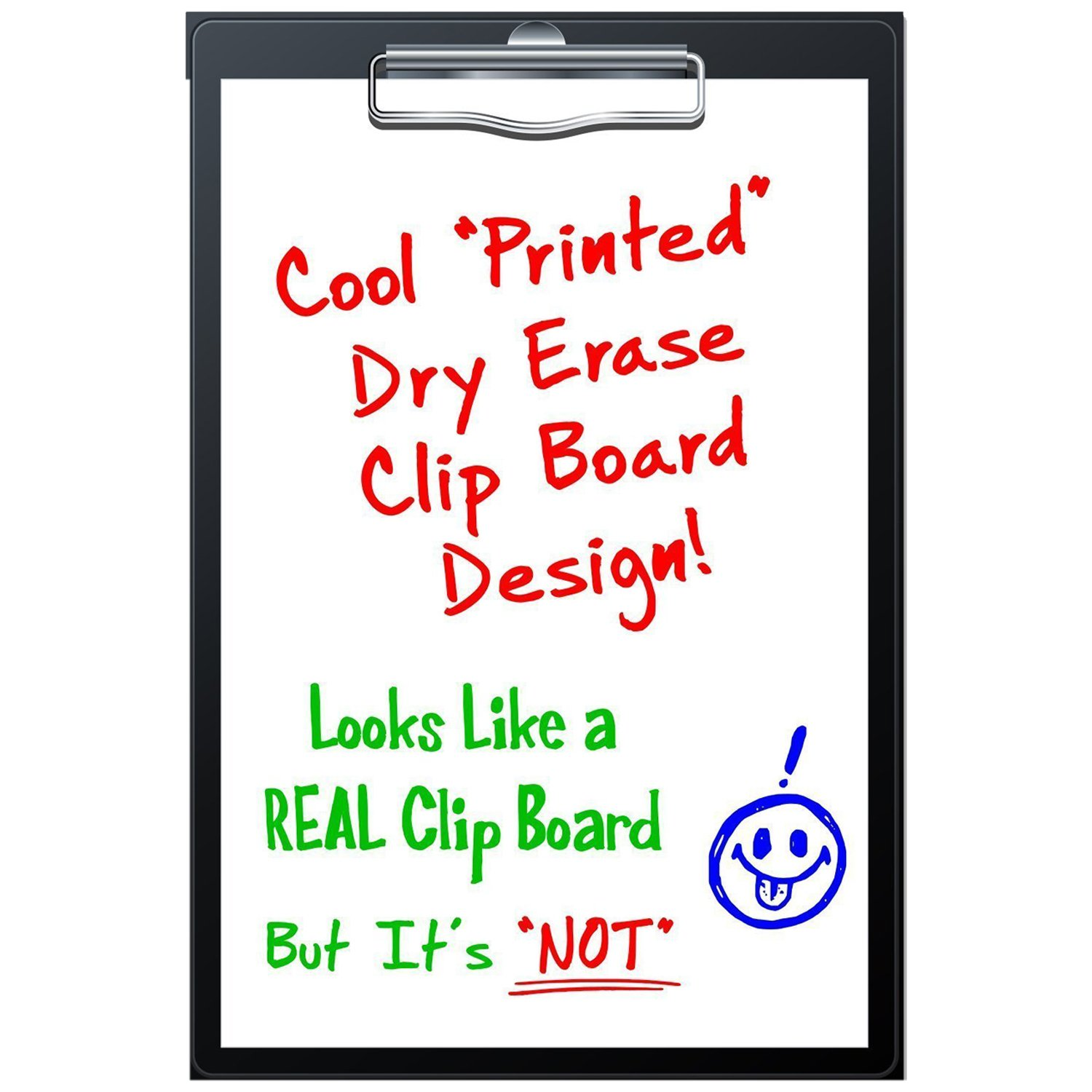 "Magnetic Dry Erase Fridge Magnet -"" Clip Board"" Unlined Paper Design for Refrigerator 