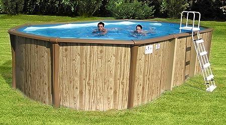 New Plast Poolmaster Kit Antigua 650 Piscina Exterior Terra Efecto ...