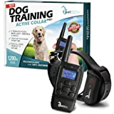 PetTech PT0Z1 Premium Dog Training Shock Collar, Safe for Dogs 10-100lbs, Fully Waterproof, 1200ft Range