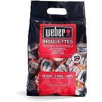 Weber 17705 briketten 3 kg, korte aanmaaktijd, lange brandduur, natuurlijke ingrediënten
