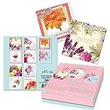 Tallon Just To Say Lot de 10 cartes d'anniversaire Motif fleurs)