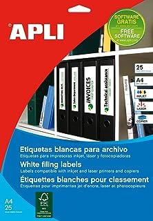 APLI 1233 - Etiquetas blancas imprimibles (190,0 x 61,0),