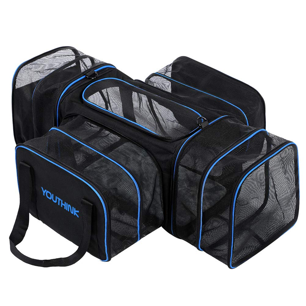 4 Side Pet Carrier YOUTHINK Expandable Soft Airline Approved Travel Carriers for Cats Puppy Dog Pet