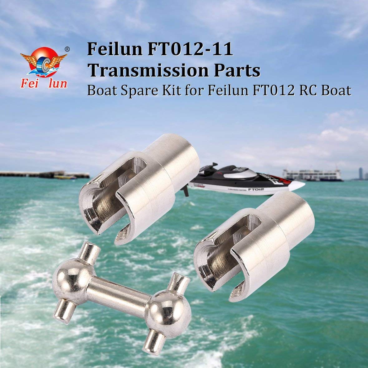 Tivolii for Feilun FT012-12 Metal Transmission Parts Boat Spare Part Components Kit RC Parts for for Feilun FT011 2.4G Brushless RC Boat Toys