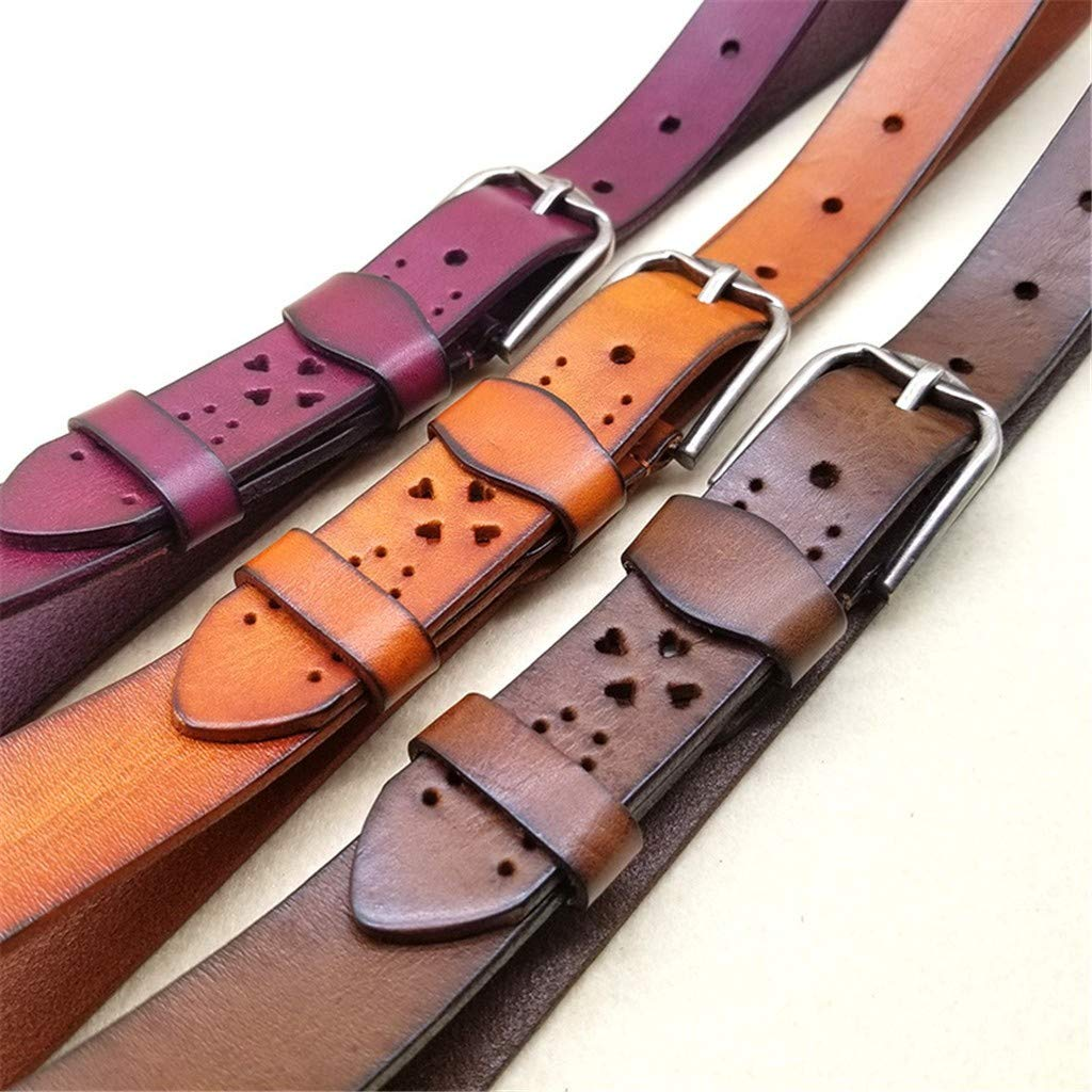 decorative leather. fashion Leather belt hollowed out fun