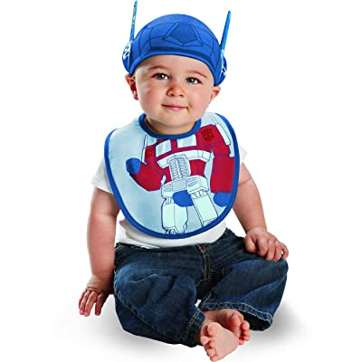 Disguise Costumes Drool Over Me Transformers Optimus Prime Infant Bib and Hat Accessory, Blue/Red, 0-6 Months: Clothing