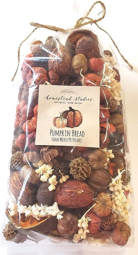 Primitive Country Rustic Autumn  PUMPKIN SPICE Tindle-Scent Potpourri Bowl Set