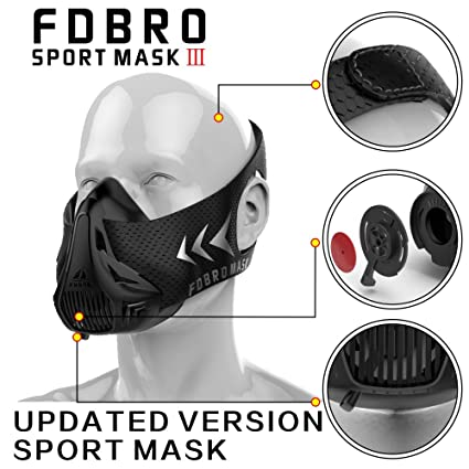 FDBRO Sports masks style black High Altitude training Conditioning training sport mask 2.0 with phantom mask