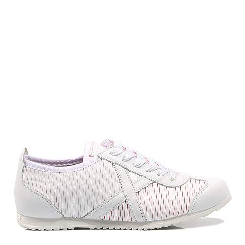13c775d065a3 Munich Osaka 381 Blanco Zapatilla Blanca para Mujer  Amazon.es  Zapatos y  complementos