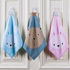 Pesp Baby Infant Kids 3-Pack Washcloths Hand Towels