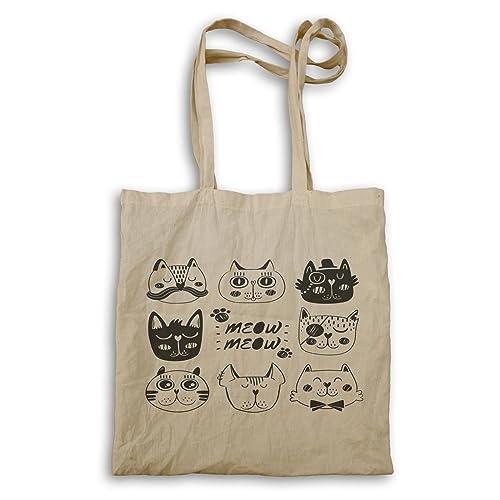 Regalo retro de la cara del maullido de los gatos bolso de mano f898r: Amazon.es: Zapatos y complementos