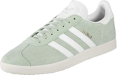size 40 cdde1 e05c0 adidas Mens Gazelle Gymnastics Shoes, Vapour GreenFTWR Crystal White, ...