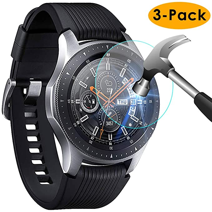 KIMILAR Pantalla Compatible con Samsung Galaxy Watch 46mm / Gear S3 Protector Pantalla, [3 Paquetes] Templado Vidrio para Galaxy Watch 46mm & Gear S3 ...