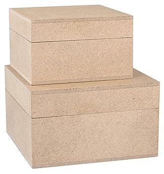 KREUL 45153 - Paper24 Madera Cajas, 2 Piezas: Amazon.es: Juguetes y juegos