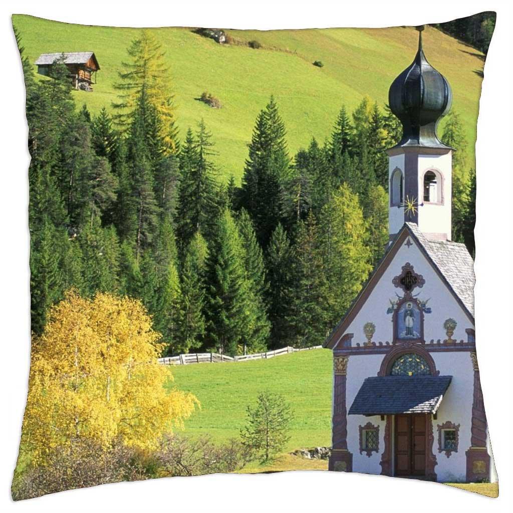 ST. Val di Funes John Iglesia Italia - Funda de cojín (18 ...