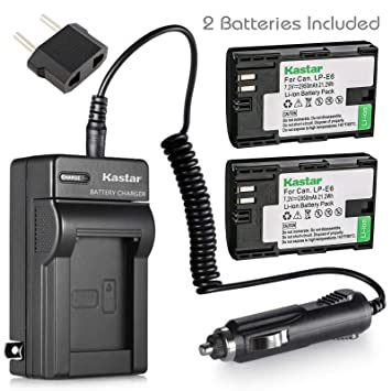 Amazon.com: Kastar y cargador de batería para Canon LP-E6 ...