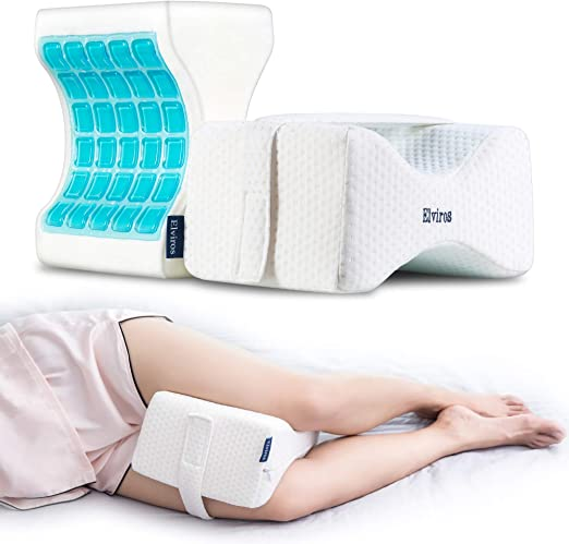Cooling Memory Foam Knee Pillow for Side Sleepers for Hip Back and Joint Pain