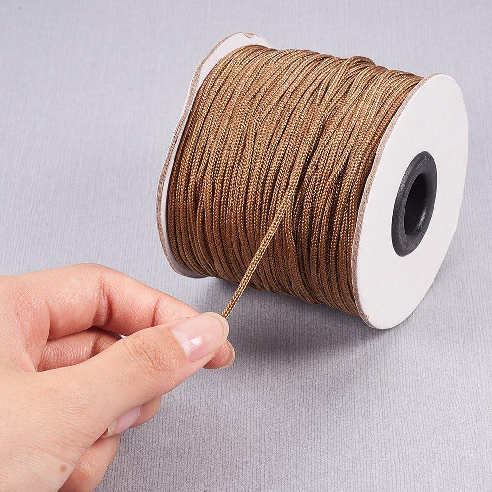 100 Yard PH PandaHall 6 Colors 0.8mm Nylon Beading String Knotting Cord Chinese Knotting Cord Nylon Shamballa Macrame Thread Beading Cord 91m // roll