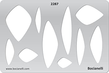 Plastic Stencil Template for Graphical Design Drawing Drafting Jewellery Making - Pendants Pendant Stones