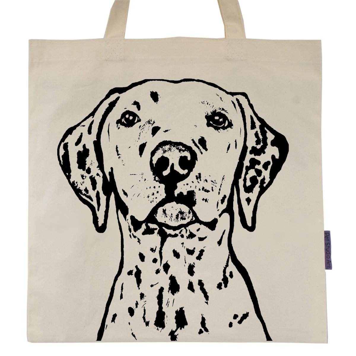 Dalmatian named Panda Tote Bag by Pet Studio Art