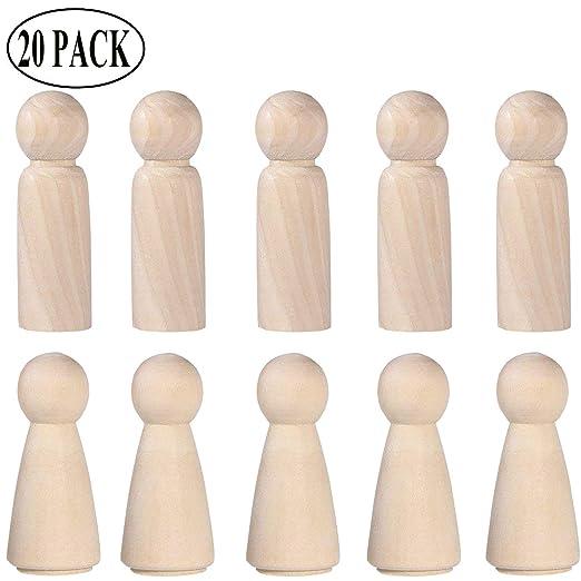 Ouinne 20 Stück Figuren Holzfiguren Diy Holzfiguren Hochzeit