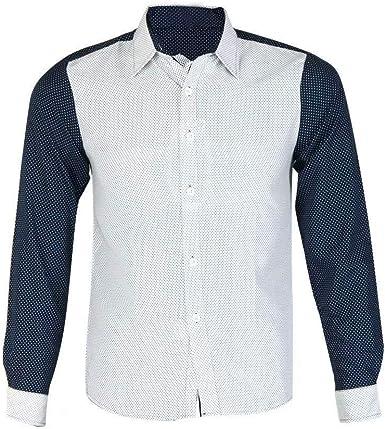 Moda para Hombre De Lujo Camisa De Manga Larga Casual Ropa Slim Fit Elegante Blusa Camisas Tops Otoño Vintage Camisas Tops (Color : Blanco, Size : XL): Amazon.es: Ropa y accesorios