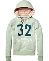 Scotch & Soda Shrunk Jungen Sweatshirt 13410140516 - hooded college sweat with patches