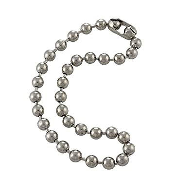 ball n chain. 9.5mm extra large silver steel ball chain mens necklace with durable color protect finish n