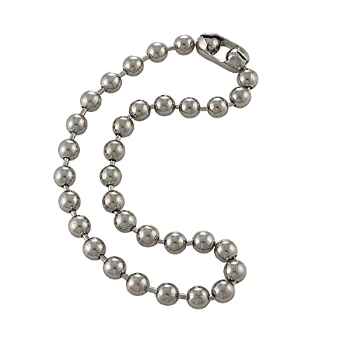 891eecd1bf6 9.5mm Extra Large Silver Steel Ball Chain Mens Necklace with Extra Durable  Color Protect Finish - 13 inches