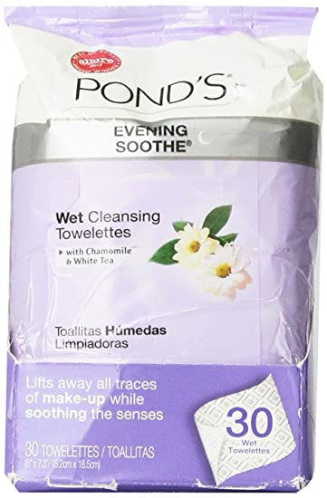 Ponds MoistureClean Makeup Remover Wipes Evening Soothe 28 ct Special Care Cream, 9 oz.