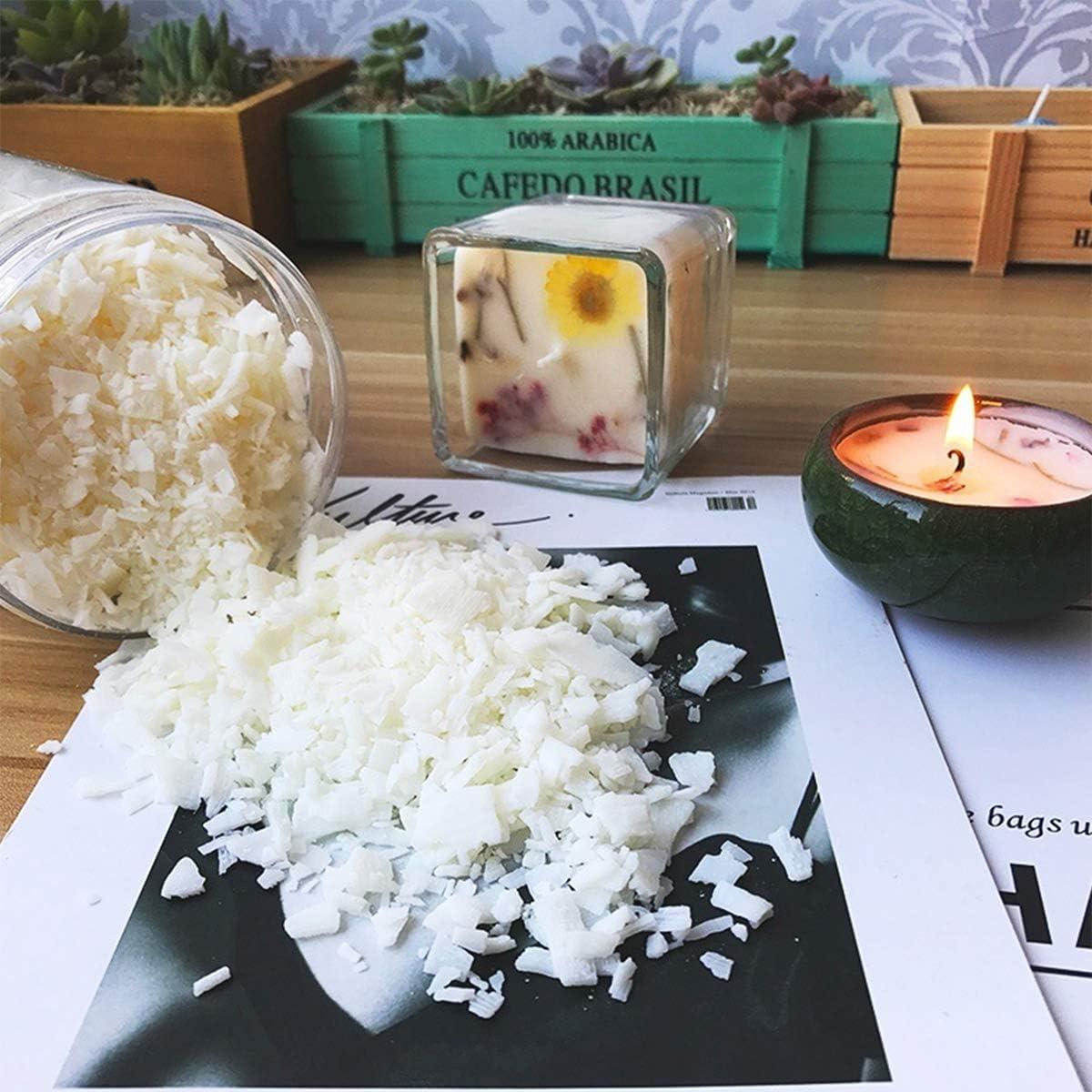 cera de soja 1 kg FLYFLY Bolsa de cera de soja ecol/ógica para para hacer velas
