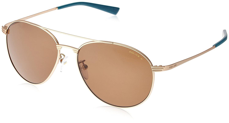 2ab1a9173c Amazon.com  Police sunglasses Rival 2 (S-8953-M 648P) Matt Gold Copper -  Brown polarised lenses  Clothing