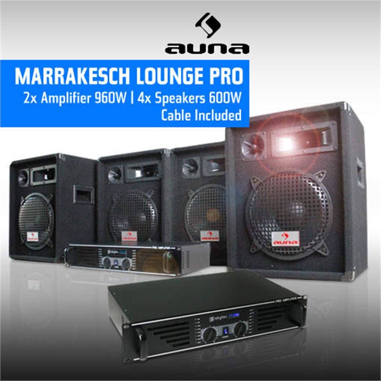 Impianto pa dj set amplificatore casse sistema karaoke E-star Ready-To-Go