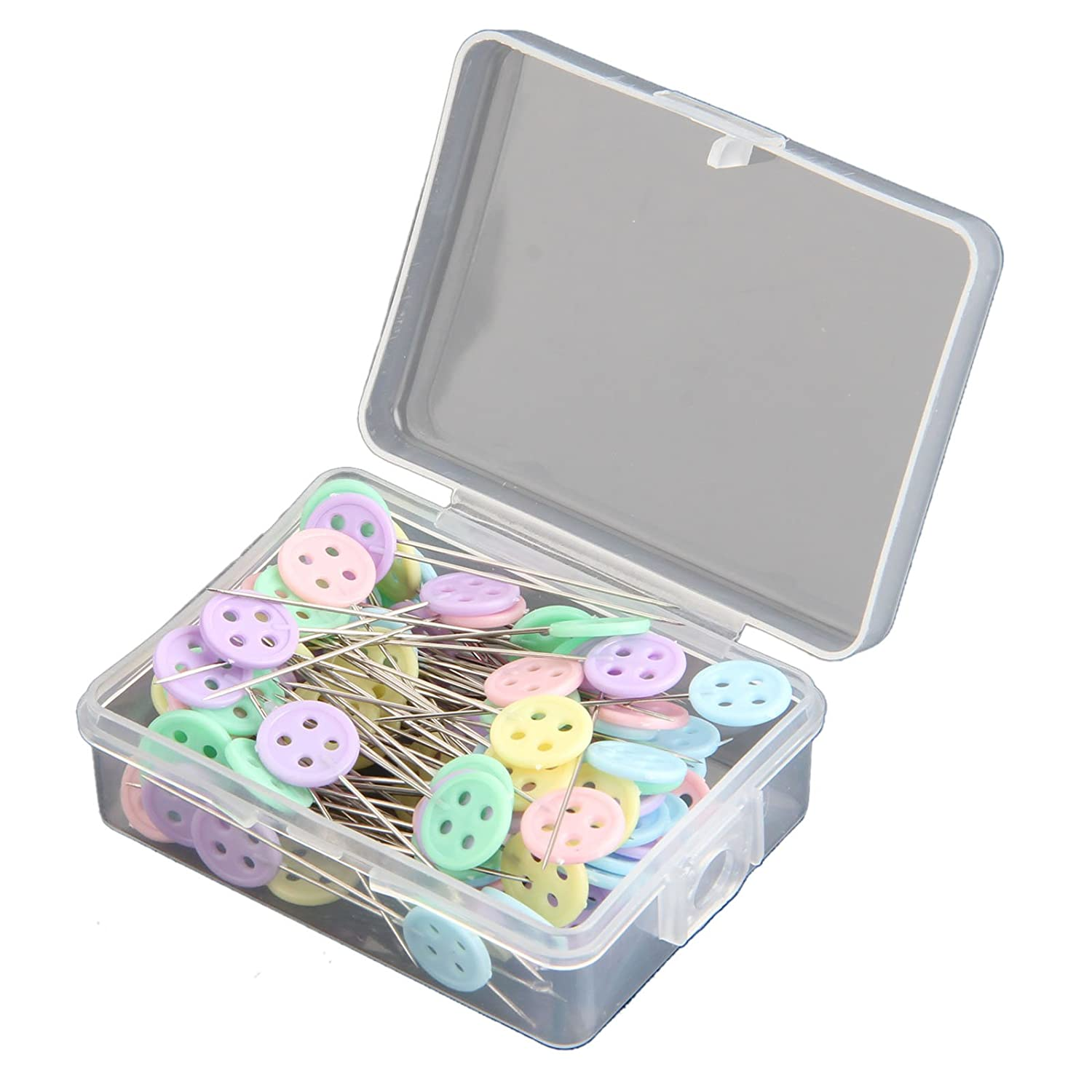 100pcs Mixed Colors Sewing Patchwork Pins Flower Head Pins Sewing DIY Tool Needle Arts-Bow tie MGoodoo